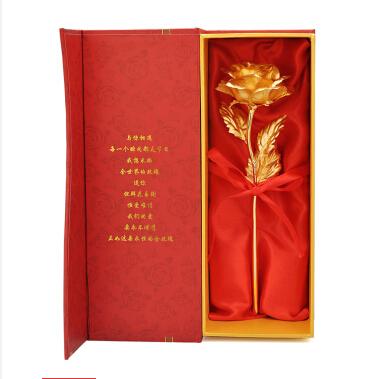 24K纯金箔大号金玫瑰花 女友生日礼物 创意礼物 送女友老婆女生 表白求婚惊喜