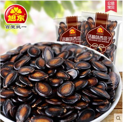 旭东话梅味西瓜子1000g独立小包装休闲零食坚果炒货黑瓜子