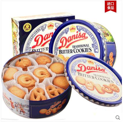 印尼进口皇冠丹麦曲奇饼干368g中秋礼盒 零食品休闲西式特产糕点