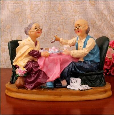 卧室房间装饰品摆件送老人生日礼物祝寿爷爷奶奶工艺品