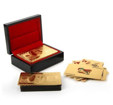特尔博 金箔美元牌扑克牌 带精致礼盒 老人寿辰生日礼物 祝寿礼品 送妈妈