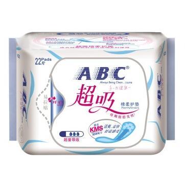 ABC 超吸棉柔护垫 163mm*22片