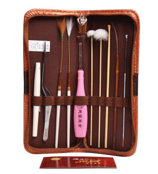 天艺高级采耳工具10件掏耳朵采耳工具套装挖耳朵挖耳勺鹅毛棒