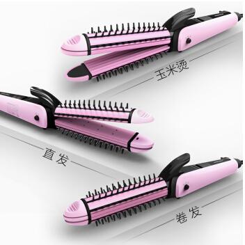 匹奇三用陶瓷卷发棒 玉米卷发器 拉直板夹板 直发器不伤发直卷两用防烫发器
