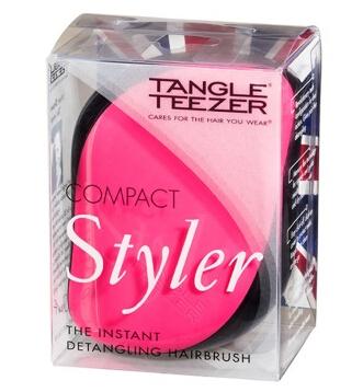 Tangle Teezer豪华便携美发梳·粉黑色